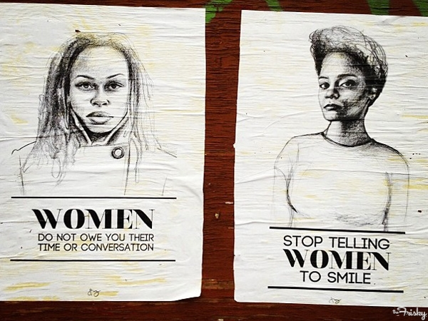 Awesome anti-street harassment art by Tatyana Fazlalizadeh;