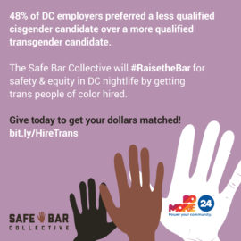 Let's Make DC Nightlife Safer for *Everyone* This #DoMore24